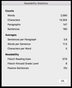 readabilitystats